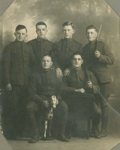 Standing - l to r Edward Winston, Frank McNulty, John Manning, Leo Toland Front Augustin Regan and Leon Valcourt from Paris