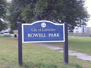 Rowell Park Lg Sign