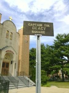 Captain Timothy Deaccy Square at Hampshire & Elm Streets & near Former Pine Street